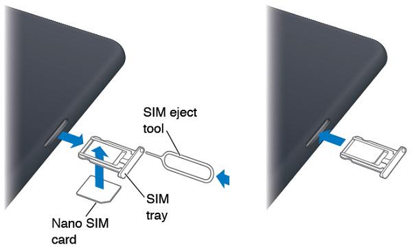 вставить nano-sim в айпад