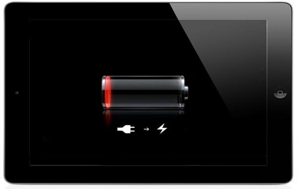 разряжена батарея на айпаде