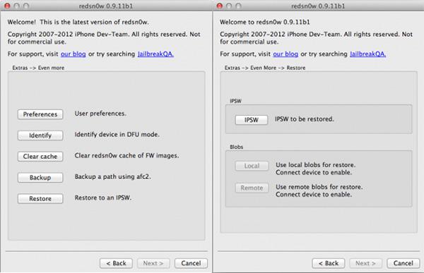 Откат прошивки iOS при помощи RedShow