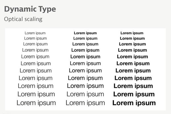 шрифт Dynamic Type