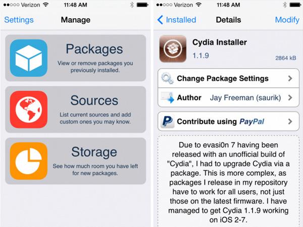 Cydia на iOS
