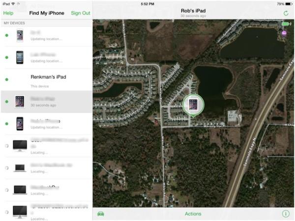 Функция поиска iPad