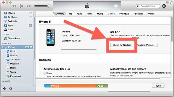 Обновление iOS на iPad через компьютер