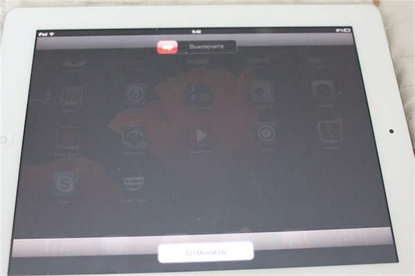 Стандартная перезагрузка планшета