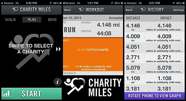 Charity Miles для iPhone