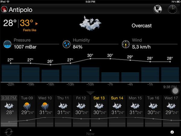 eWeather HD для iPad
