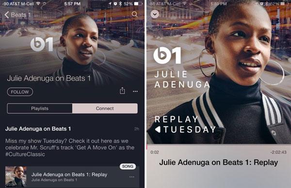 Beats 1 теперь может проигрывать повторы трансляций
