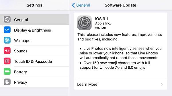 Apple выпустила финальную iOS 9.1